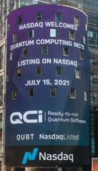 NASDAQ Welcomes Quantum Computing Inc's listing on NASDAQ – July 15, 2021